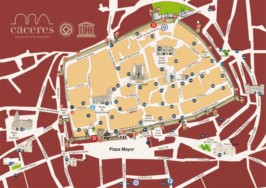 Dónde aparcar gratis en el centro de Cáceres